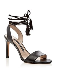 French Connection Liesel Lace Up High Heel Sandals Black
