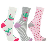 John Lewis Cactus And Spot Ankle Socks Pack Of 3 Multi