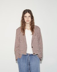 Aalto Cropped Oversized Jacket Nude Check