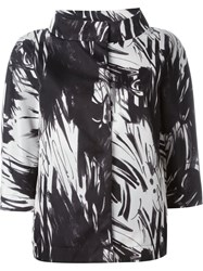 Herno Abstract Printed Jacket Black