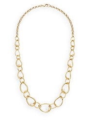Saks Fifth Avenue Faux Pearl Link Necklace Gold
