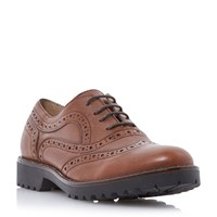 Dune Fawne Lace Up Leather Brogues Tan