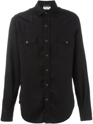 Saint Laurent Classic Western Shirt Black