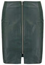 Mbym Vidrik Leather Skirt Emerald Dark Green