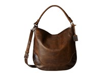 Frye Melissa Hobo Dark Brown Antique Pull Up Hobo Handbags
