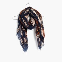 Madewell Concentric Paisley Square Scarf Dark Midnight