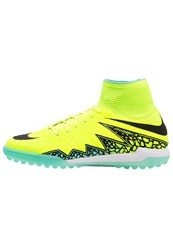 Nike Performance Hypervenomx Proximo Tf Astro Turf Trainers Volt Black Neon Yellow