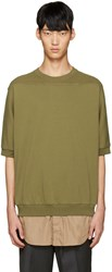 3.1 Phillip Lim Green Shirt Tail Pullover