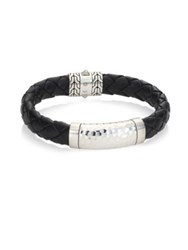 John Hardy Classic Chain Collection Sterling Silver And Braided Band Bracelet No Color