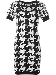 Boutique Moschino Houndstooth Print Dress Black