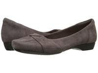 Clarks Blanche Fria Taupe Suede Women's Flat Shoes