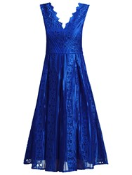 Jolie Moi Striped Pattern Prom Dress Royal Blue