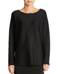 424 Fifth Boatneck Pullover Sweater Black