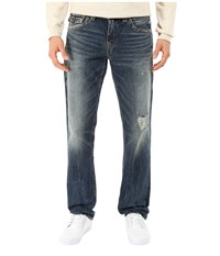 True Religion Geno With Flap In Concrete Lake Concrete Lake Men's Jeans Blue