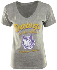 Retro Brand Women's Washington Huskies Graphic T Shirt Gray