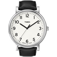 Timex Originals Classic Round Watch White And Black Leather