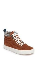 Vans Women's Sk 8 Hi Mte Sneaker Monks Robe Brown Suede