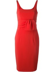 Moschino Square Neck Dress Red