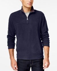 Club Room Big And Tall Quarter Zip Mock Neck Fleece Only At Macy's Navy Blue