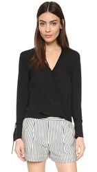3.1 Phillip Lim Soft Draped Blouse Black