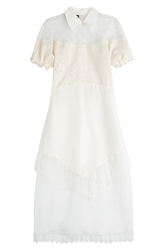 Rochas Embroidered Dress With Lace And Organza