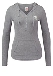 Franklin And Marshall Long Sleeved Top Grey Melange Mottled Grey