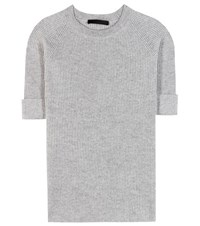 The Row Arisa Cashmere And Silk Top Grey
