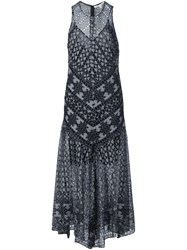 Veronica Beard Flared Lace Dress Black