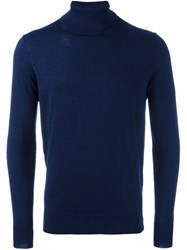 Closed Roll Neck Sweater Blue