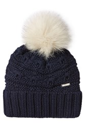 Woolrich Wool Hat With Pom Pom Blue