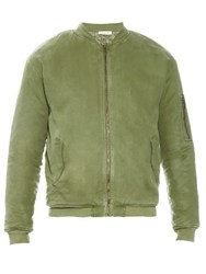 American Vintage Military Padded Twill Bomber Jacket Green