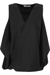 Bailey 44 Azalea Cutout Silk Top Black