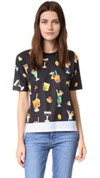 Victoria Beckham Front Printed Tee Cocktail