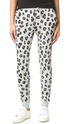 Zoe Karssen Leopard Allover Sweatpants Grey Heather
