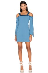C Meo Collective Outgrown Long Sleeve Dress Blue