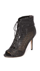 Sam Edelman Abbie Open Toe Booties Black