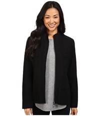 Pendleton Lindsey Boiled Wool Jacket Black Women's Coat