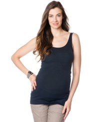 A Pea In The Pod Maternity Scoop Neck Tank Top Navy