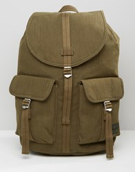 Herschel Supply Co Dawson Backpack In Military Inspired Army Surplus 20L Green