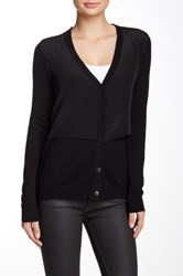 Bailey 44 Macgraw Silk Combo Cardigan Black