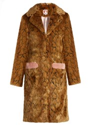 Shrimps Claude Leopard Print Faux Fur Coat