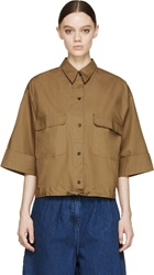 Damir Doma Brown Drawstring Sirah Shirt