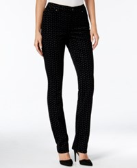 Charter Club Petite Printed Lexington Corduroy Pants Only At Macy's Deep Black Combo