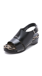 Thakoon Joplin Clog Sandals Black