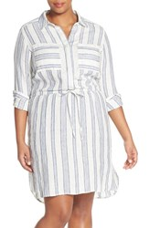 Plus Size Women's Caslon Drawstring Waist Shirtdress