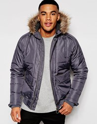 Ringspun Cropped Max Jacket With Hood Grey