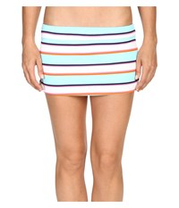 Tommy Bahama Tb Rugby Stripe Skirted Hipster Bikini Bottom Multicolor Women's Swimwear