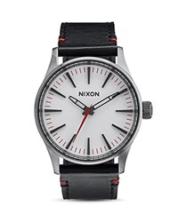 Nixon Sentry 38 Leather Strap Watch 38Mm White
