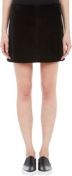 Edun Suede Front Mini Skirt Black