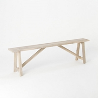 Preserved Teak Trestle Bench